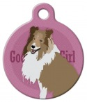 Image: Good Girl Collie or Shetland Sheepdog Dog ID Tag