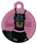 Good Girl - Doberman or Miniature Pinscher Pet ID tag