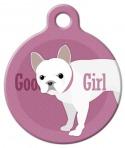 image: Good Girl - French Bull Dog Pet ID Tag