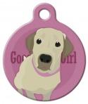 Image: Good Girl Labrador Retriever Dog ID Tag
