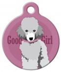 Image: Good Girl Toy Poodle Dog ID Tag