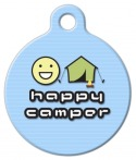 image: Happy Camper Pet ID Tag