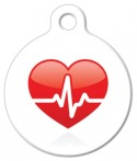 image: Heart Beat Medical Dog Tag