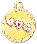 Image: I Heart U Pet ID Tag