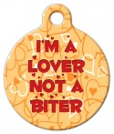 Image: I'm a Lover Pet Tag ID
