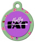 Image:  Not Fat - Fluffy Pet ID Tag