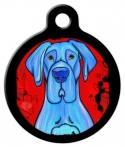 image: Blue Great Dane Dog Identification Tag