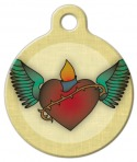 image: Inked Sacred Heart Tatoo Pet ID Tag