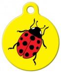 Image: Ladybug Dog or Cat Tag