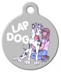 Image: Lap Dog Harlequin Great Dane Pet ID Tag