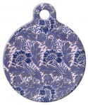 image: Lavender Flower Pattern Pet ID Tag