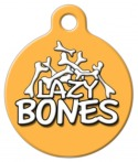 Image: Lazy Bones Dog Tag
