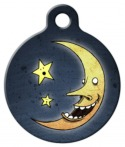 image: Laughing Moon Pet ID Tag