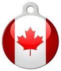 Image: Canadian Flag Custom Pet Tag