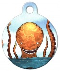 image: Orange Octopus Pet ID Tag