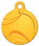 image: Orange Swirl Pet ID Tag