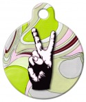 Image: Peace Out Pet ID Tag