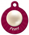 image: Pearl June Birthstone Dog ID Tag