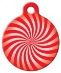 Image: Peppermint Swirl Pet ID Tag