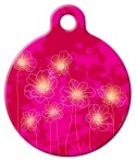 Image: Pink Garden Pet ID Tag