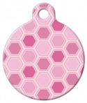Pink Honeycomb Pattern DogTag