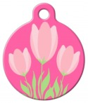 image: Pink Tulips Tag
