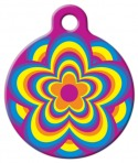 image: Psychedelic Flower Pet ID Tag