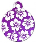 image: Purple Hawaiian Shirt Dog ID Tag