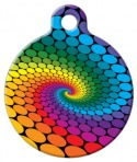 Rainbow Swirl Pet Tag