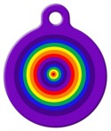 image: Rainbow Circles Dog ID Tag