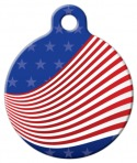 image: Ribbon Flag Pet ID Tag