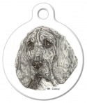 Image: Bloodhound Dog Identification Tag