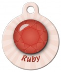 image: Ruby July Birthstone Dog ID Tag