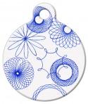 image: Blue Spirograph Pet ID Tag