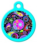 Swirly Paisley Pet Name Tag