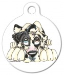 Great Dane Illustrated Dog Identity Tag