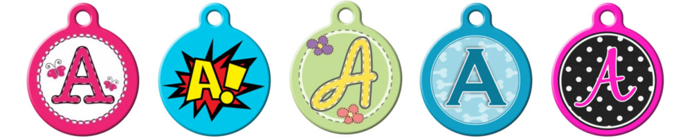05ad404c57da Getting your pet a monogrammed ID tag? It's the classy thing to do. Plus,  there are plenty of monogram styles to choose from - everything from cutesy  polka ...