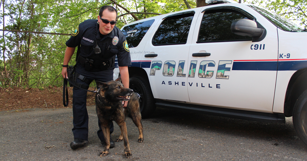 Officer Rodriguez and Zeke