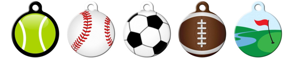 4475d4808b6d The pet ID tags in our sports section let sports fans can represent their  favorite teams and athletes of both the two and four-legged kind sport a  little ...