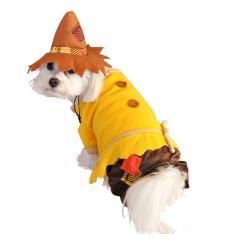Dog Halloween Costume Scarecrow