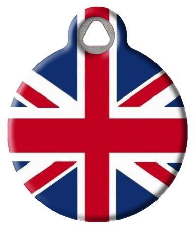 British Flag Pet ID Tag
