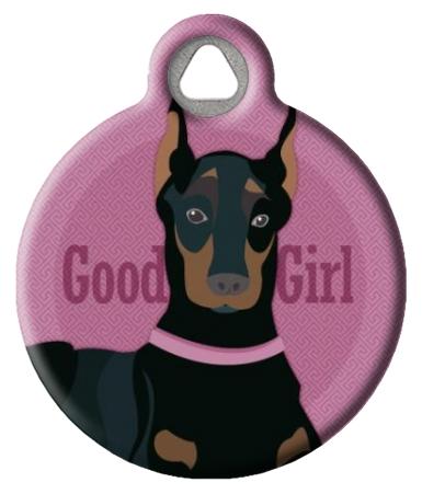 Good Girl - Doberman or Miniature Pinscher Pet ID Tag