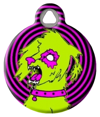Zombie Poodles on  the Loose Dog Tag