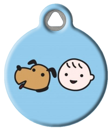 A Boy and His Dog Pet ID Tag