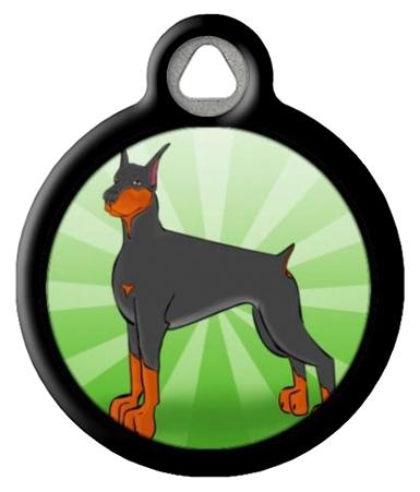 Doberman Dog Identification Tag