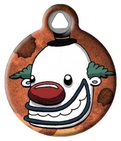 Happy Clown Dog ID Tag