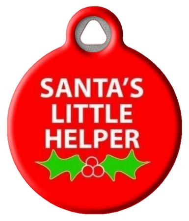 Santa's Little Helper Dog ID Tag