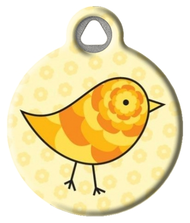 Cute Chick Dog Name Tag