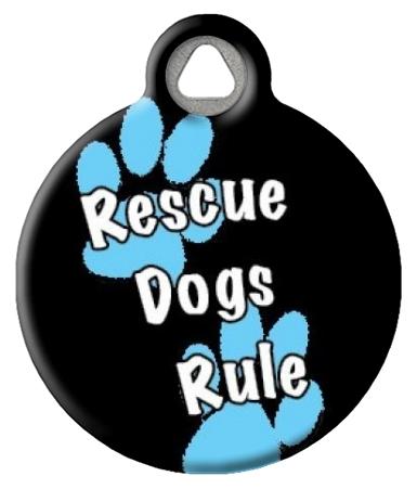Rescue Dogs Rule Boy ID Tag