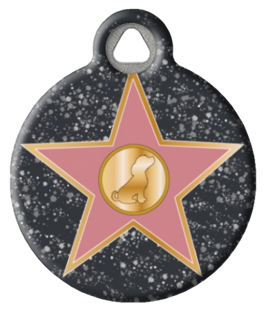 Hollywood Star Dog Collar Tag
